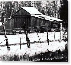 Acrylic Print featuring the photograph Old Barn Alpine Az  by Juls Adams