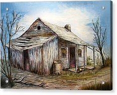 Our House Acrylic Print by Sue Ireland