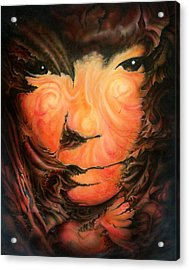 Pagan Poet Acrylic Print by Victor Whitmill
