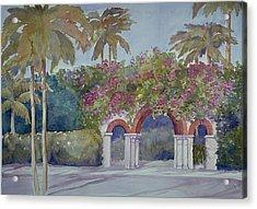 Palm Beach Gates Acrylic Print