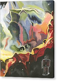 Paranoid Android Acrylic Print by Cory Rootes