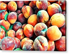 Peaches Acrylic Print by Carlos Avila