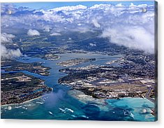 Pearl Harbor Aerial View Acrylic Print