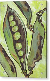 Peas Acrylic Print by Sandy Tracey