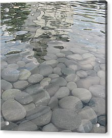 Pebbles Acrylic Print by Nancy Dole McGuigan