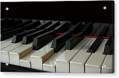 Piano Keyboard Acrylic Print by Martin Zalba is a photographer looking for a personal look,