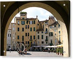 Piazza Antifeatro Lucca Acrylic Print by Mathew Lodge