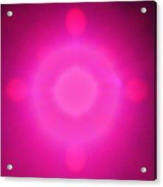 Pink Power Acrylic Print by Joshua Sunday