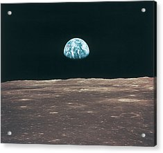Planet Earth Viewed From The Moon Acrylic Print by Stockbyte