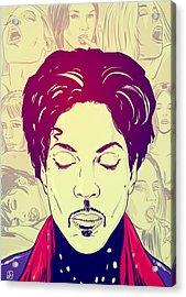 Prince Acrylic Print by Giuseppe Cristiano