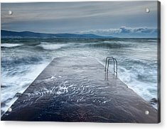 Raging Sea Acrylic Print by Evgeni Dinev