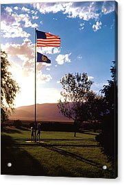 Rally Around The Flag Acrylic Print