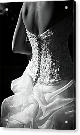 Rear View Of Bride Acrylic Print by John B. Mueller Photography