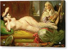 Reclining Odalisque Acrylic Print by Theodore Chasseriau