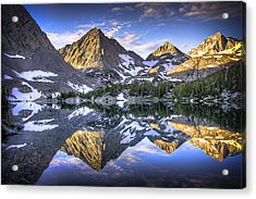 Reflection Of Mountain In Lake Acrylic Print by RMB Images / Photography by Robert Bowman