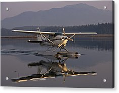 Reflections Of A Float Plane Acrylic Print by Darcy Michaelchuk