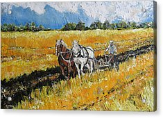 Acrylic Print featuring the painting Refreshing The Soil by Debora Cardaci