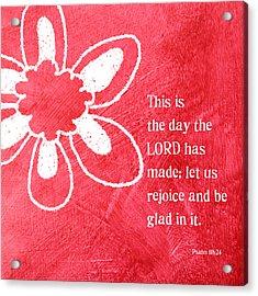 Rejoice Acrylic Print by Linda Woods