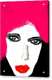 Retro Pink Acrylic Print by Rc Rcd