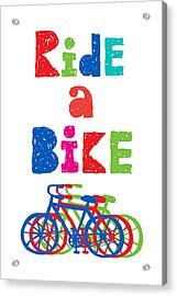 Ride A Bike - Sketchy  Acrylic Print by Andi Bird