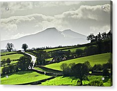 Road To Brecon Beacons Acrylic Print by Ginny Battson