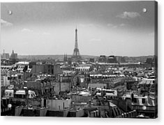 Roof Of Paris. France Acrylic Print by Bernard Jaubert