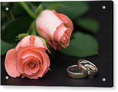 Roses And Rings Acrylic Print