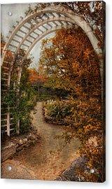 Rusting Garden Acrylic Print by Robin-Lee Vieira