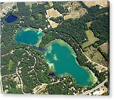 S-045 Stratton Lake Waupaca County Wisconsin Acrylic Print by Bill Lang