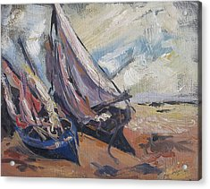 Acrylic Print featuring the painting Sail Boats by Debora Cardaci