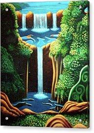 Saltwater Falls 3 Acrylic Print by Barbara Stirrup