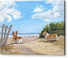 Seaside Romp Acrylic Print by Ann Becker