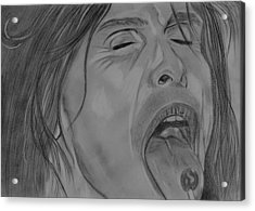 Acrylic Print featuring the drawing Sexy Steven Tyler Portrait by Jeepee Aero