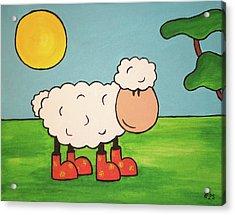 Acrylic Print featuring the painting Sheeep by Sheep McTavish