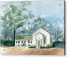 Sicklerville 1859 Church  Acrylic Print by Nancy Patterson