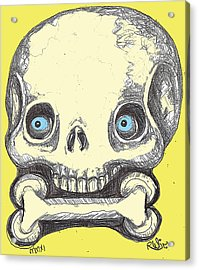 Skullnbone Acrylic Print by Robert Wolverton Jr
