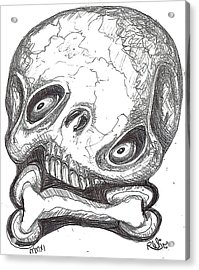 Skullnbone Twisted Acrylic Print by Robert Wolverton Jr