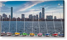 Skyline Sailboats Acrylic Print