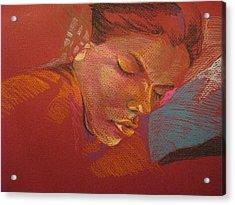 Sleeping Figure  Acrylic Print by Julie Orsini Shakher
