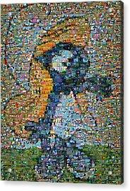 Smurfette The Smurfs Mosaic Acrylic Print by Paul Van Scott