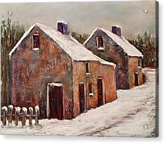 Snow Fall In Ireland Acrylic Print by Joyce A Guariglia