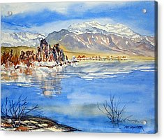 Acrylic Print featuring the painting South Tufa by Pat Crowther