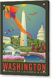 Spring In Washington D.c. Acrylic Print by Joe Barsin