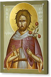 St Euphrosynos The Cook Acrylic Print by Julia Bridget Hayes