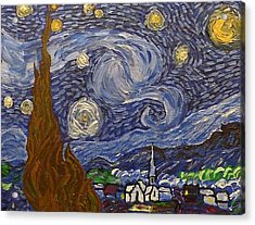 Starry Night - An Ode To Vincent Acrylic Print