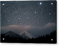 Stars Over Rocky Mountain National Park Acrylic Print