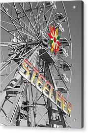 Steel Pier Acrylic Print by Heather Weikel