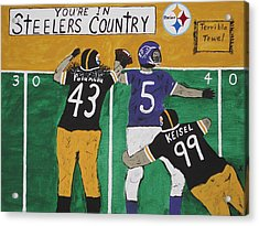 Steelers Country Acrylic Print