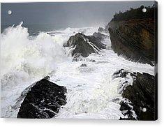 Storm On The Oregon Coast Acrylic Print by Bob Christopher