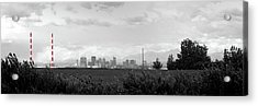 Stormy Day Calgary Cityscape Acrylic Print by Lisa Knechtel
